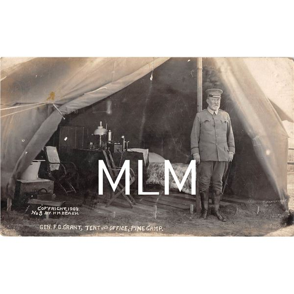 Gen. Grant Tent & Office Pine Camp, NY Beach Photo Postcard