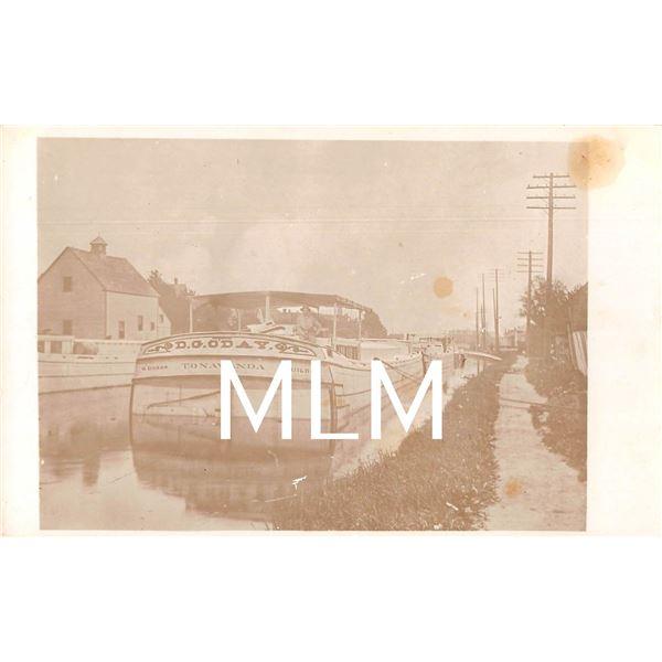 D.G. O'day Tonawanda Boat in Erie Canal Photo Postcard