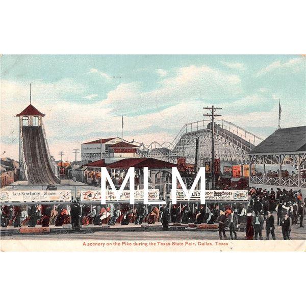 Amusement Rides & Coaster Texas State Fair Dallas, TX Postcard
