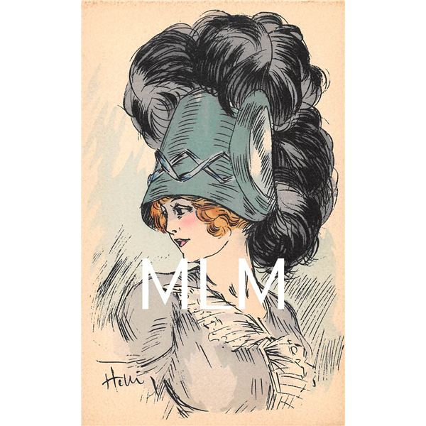 4 Pretty Ladies in Hats Signed Artist Icart Postcards