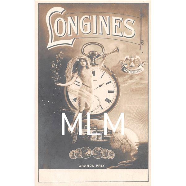 Longines Grands Prix Watch Advertising Photo Postcard
