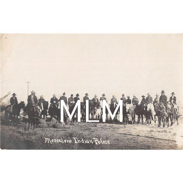 Mescalero Indian Police on Horseback New Mexico Photo Postcard
