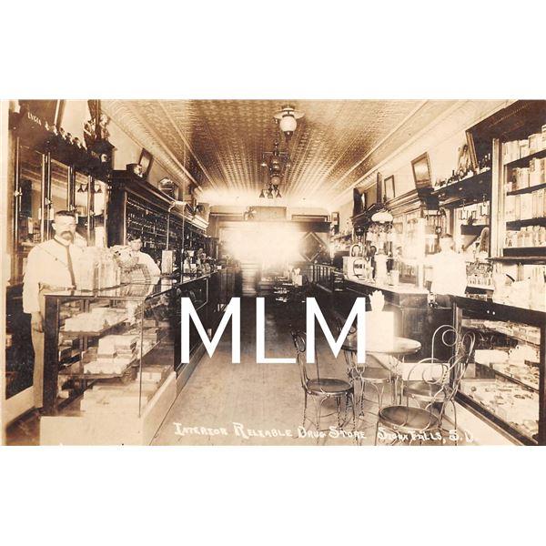 Interior Drug Store Sioux Falls, South Dakota Photo Postcard