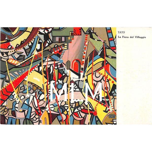 Tato Futurism La Fiera del Villaggio Signed Artist Postcard