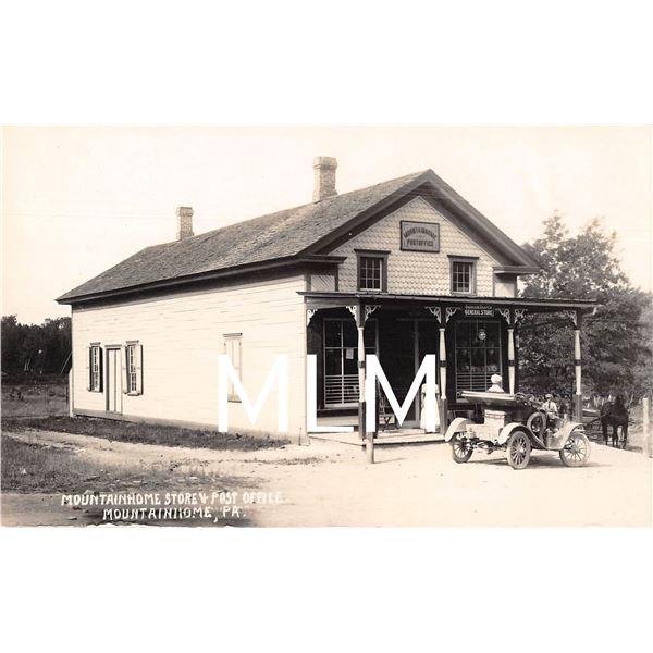 General Store & Post Office Mountainhome, Pennsylvania Photo Postcard
