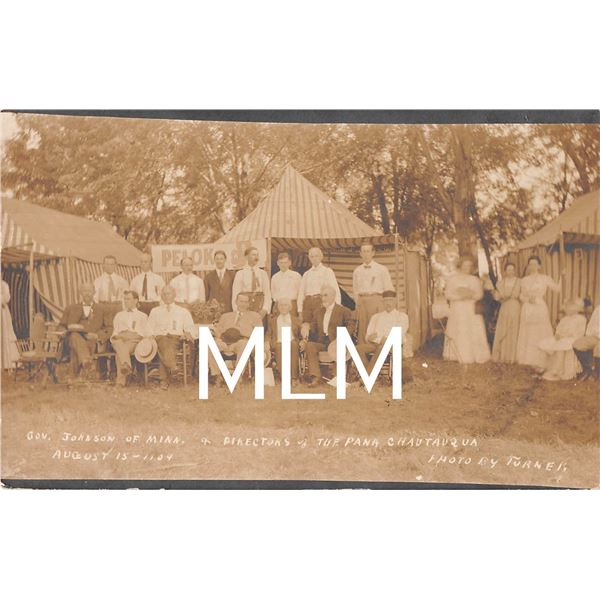 Gov. Johnson of MN Dir. Of Pana Chautauqua Gathering Photo Postcard