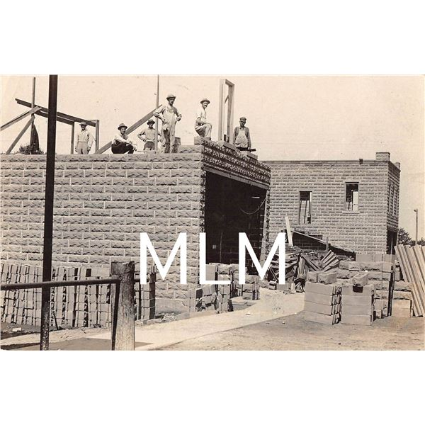 Construction on building South Clayton, New York Photo Postcard