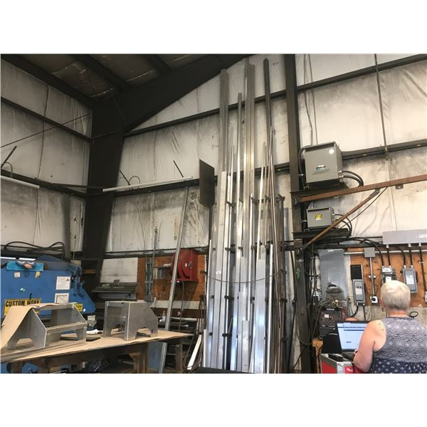 """ASSORTED ALUMINIUM TUBING (90' 2"""" X 4"""", 60' 2 1/2"""" X 2 1/2"""" & SEVERAL OTHER PIECES)"""