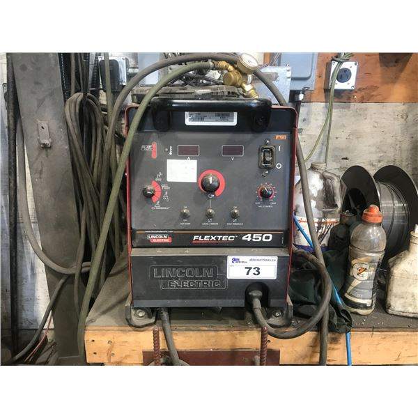 LINCOLN ELECTRIC FLEXTEC 450 WITH A LINCOLN ELECTRIC LF-74 WELDER