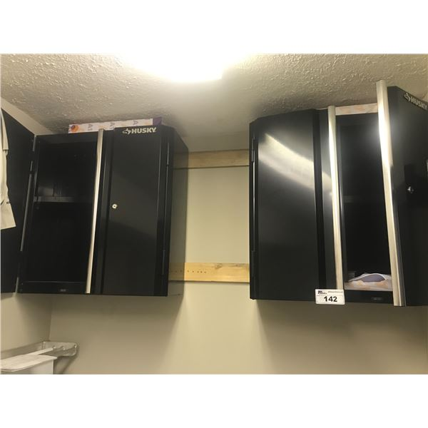 """HUSKY BLACK METAL HANGING CABINETS 28.5"""" X 30"""" (MUST BE REMOVED)"""