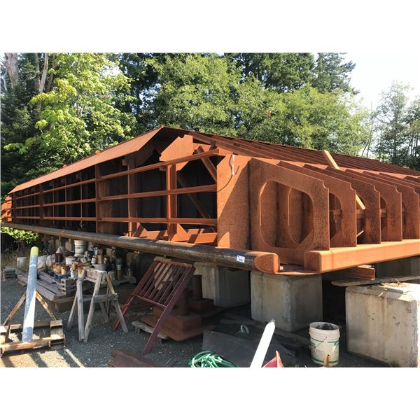 * 60' X 24' METAL BARGE UNDER CONSTRUCTION (ENGINEER DRAWINGS INCLUDED, $120,000.00 INVEST TO DATE)