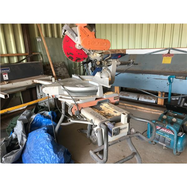 """RIGID COMPOUND MITER SAW WITH STAND 12"""""""
