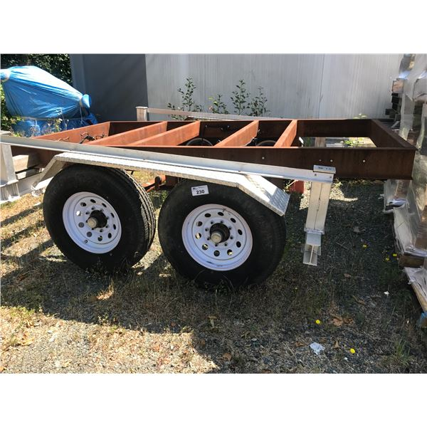 """TRAILER EXTENSION WITH ELECTRIC BRAKES 16"""" WHEELS - USED ONCE"""