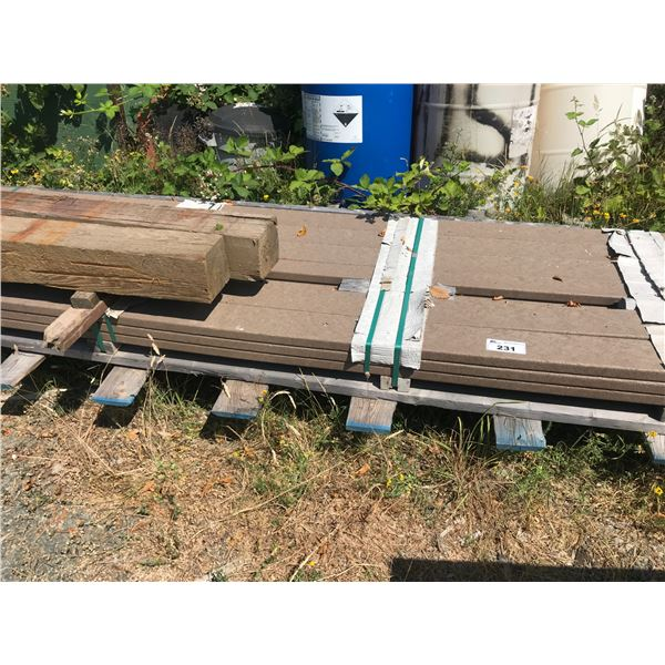 PALLET OF ALL WEATHER DECKING (APPROX 96 SQ FEET)