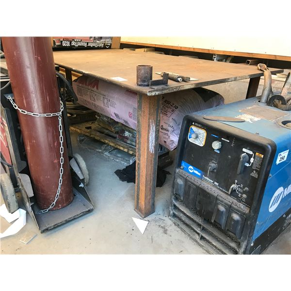 """WELDING TABLE 51"""" X 24' X 1"""" THICK"""