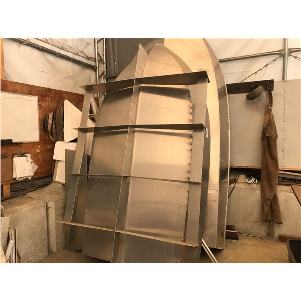 """ALUMINUM BOAT PARTIALLY CONSTRUCTED 10' X 53"""" INCLUDES CONSTRUCTION JIG"""