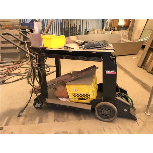 LINCOLN ELECTRONIC WELDING CART