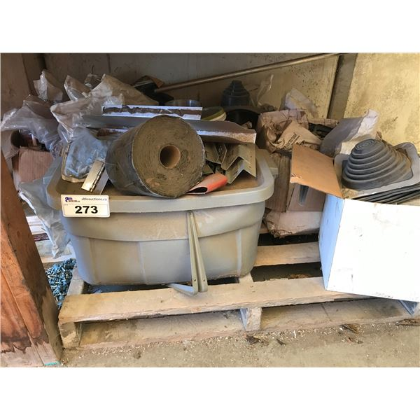 CONTENTS UNDER WORK TABLES (ROOFING SCREWS ETC)