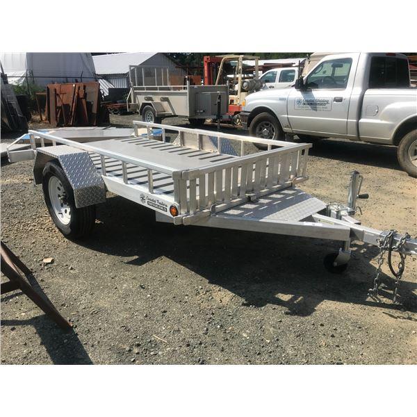 """NEW ALUMINUM ATV/QUAD TRAILER WITH RAMPS 8' X 48"""" vin # 2M9BA0811KC192010, NO DECLARATIONS"""