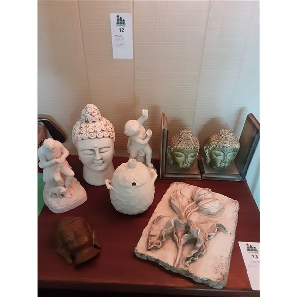 Buddha and White decor A
