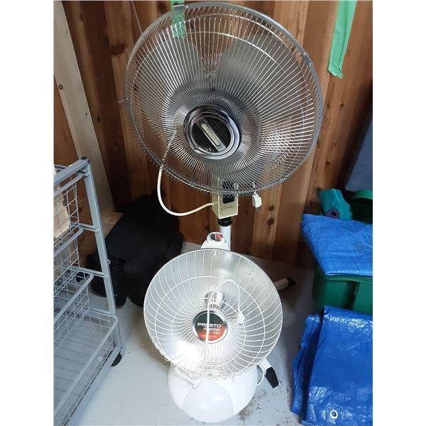 Fan and heater A