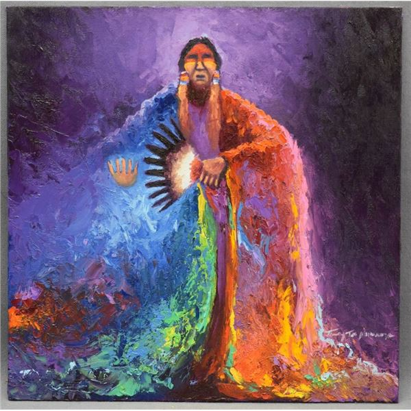 COMANCHE INDIAN PAINTING ( TIMOTHY TATE NEVAQUAYA)