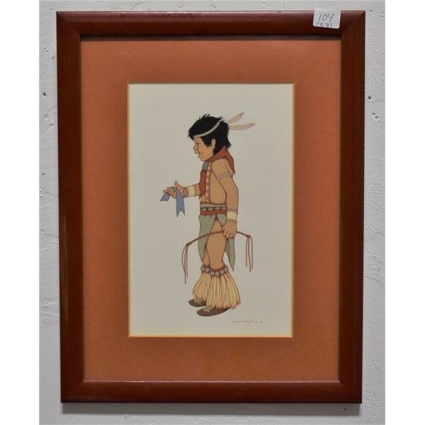 CHOCTAW INDIAN PAINTING (VALJEAN MCCARTY HESSING)