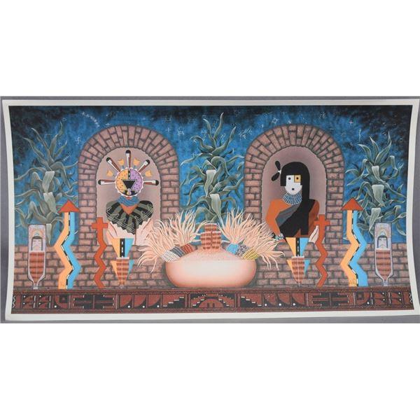 HOPI INDIAN GICLEE (GERRY QUOTSKUYVA)
