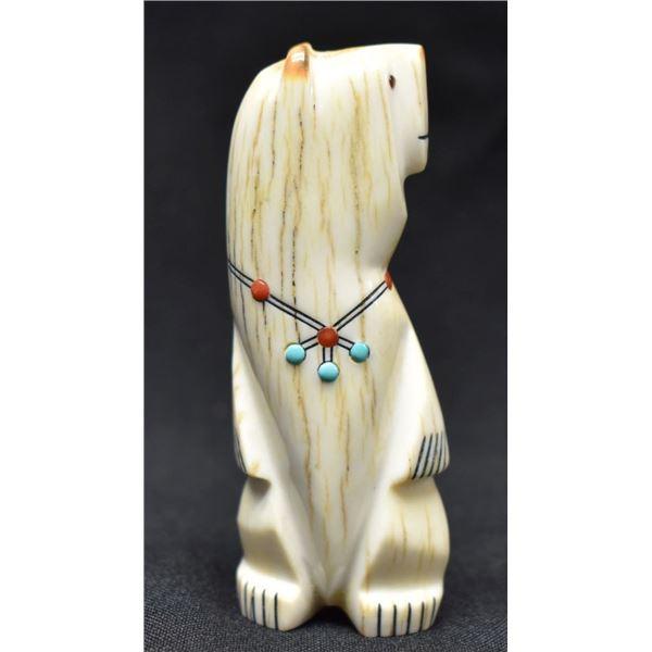 ZUNI INDIAN ANTLER BEAR (GABE SICE)