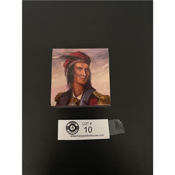 2012 Four Dollar Silver Coin Heroes of 1812 Tecumseh in Original Box