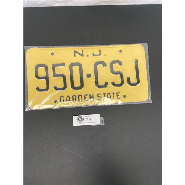Vintage New Jersey Garden State License Plate