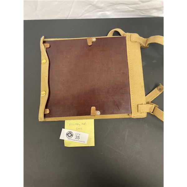 Vintage Military Map Case