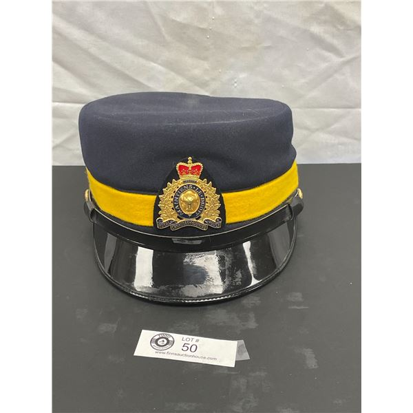 Vintage RCMP Female Officers Hat 1987 with Badge