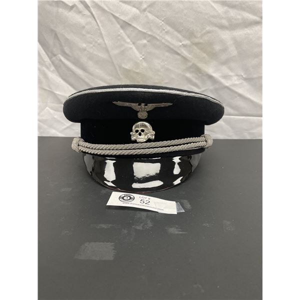 German WW2 Visor Reproduction Size 7and 3/8th
