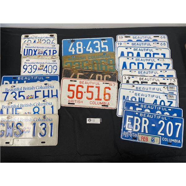Lot of 21 Collectible License Plates