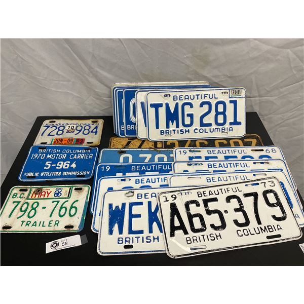 Lot of 23 Collectible License Plates