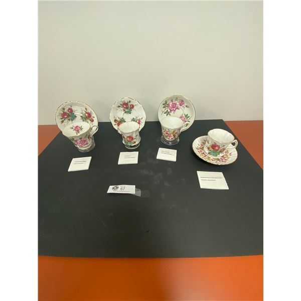 Lot of 4 Vintage Teacup and Saucers