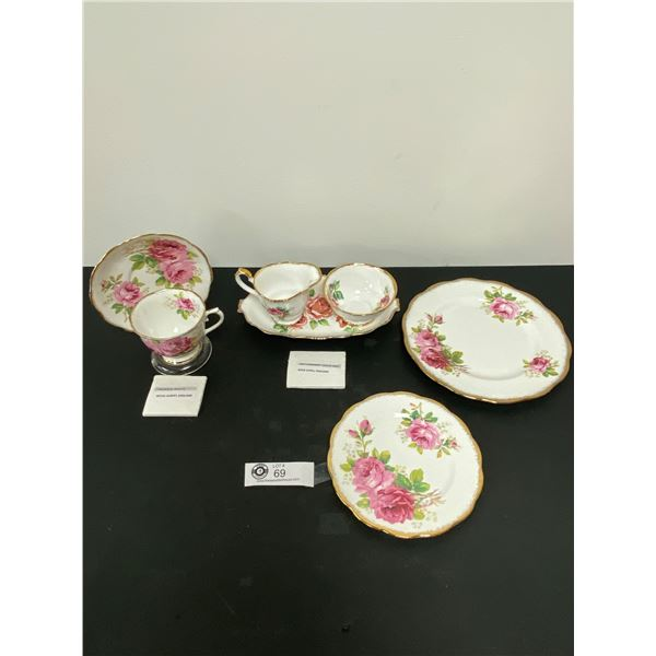 Lot of 3 Royal Albert Teacup Sauce with Cream and Sugar