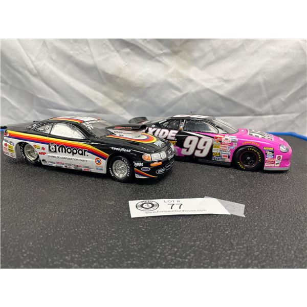 Two 1/24th Scale Diecast Race Cars