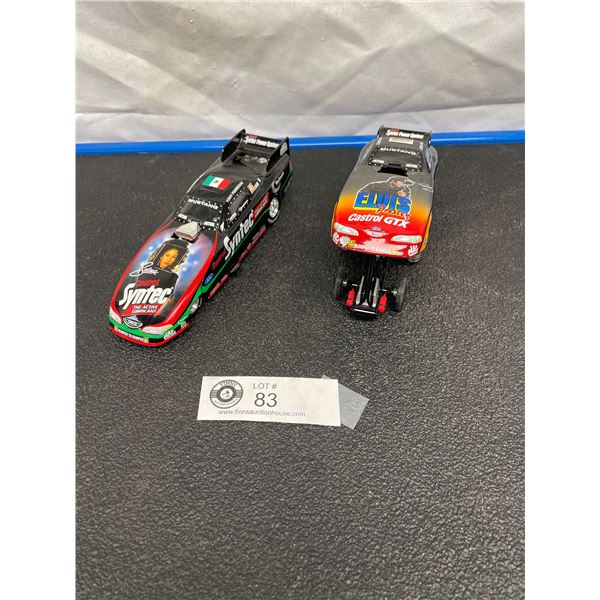 Two 1/24th Scale Diecast Dragsters Elvis Presley and Selena