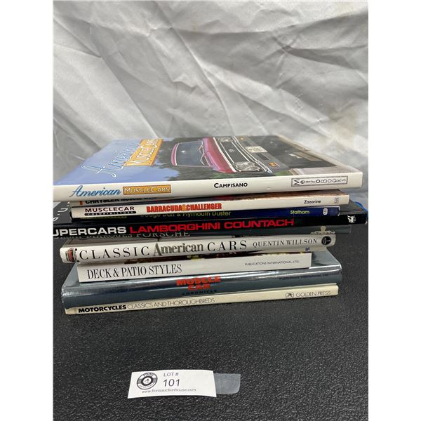 Large Lot of Hardcover Car Books, Musclecars, etc