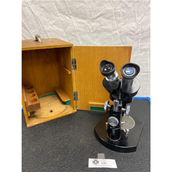 Micro Master MM121 Jewellers Microscope in Wooden Box