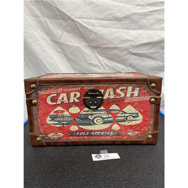 Decorative Car Wash Boy with Lid 15 x 9 x 8
