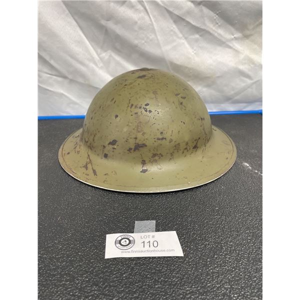 WW2 Canadian Brodie Helmet Complete with Original Liner and Chinstrap