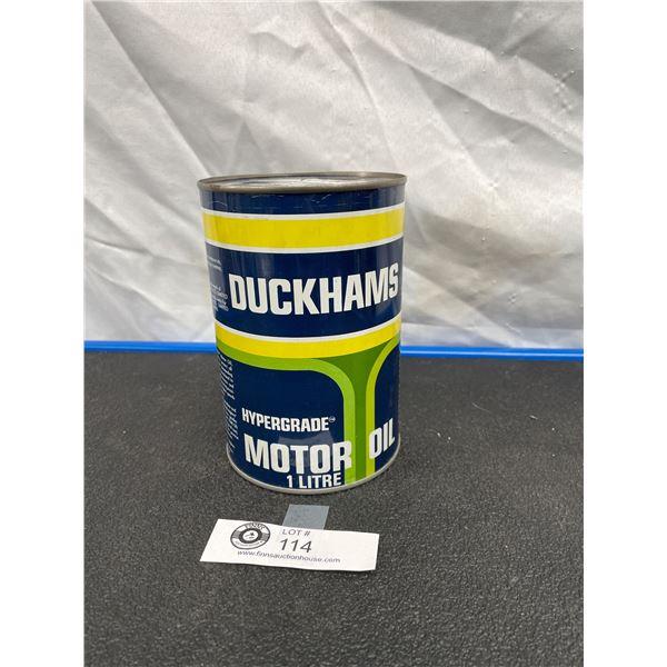 Duckhams Hypergrade SAE 15W/50 Motor Oil Tin  Prototype  Never Opened But Empty Rare