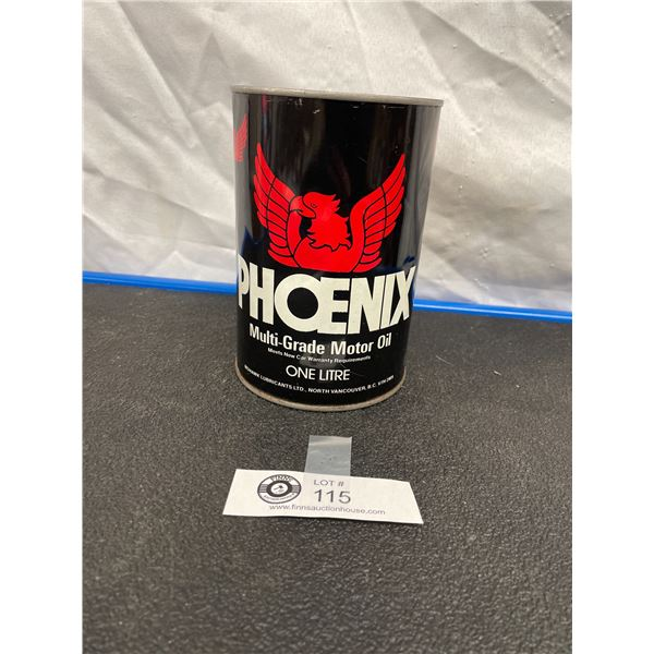 Phoenix Multi Grade Motor Oil Tin Prototype Never Opened, Empty, Rare