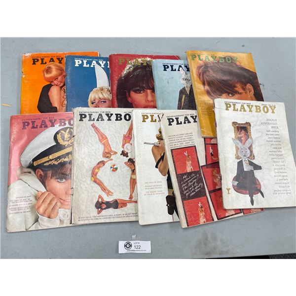10 issues of 1966 Playboy Magazines