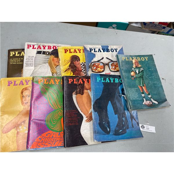 9 issues of 1967 Playboy Magazines