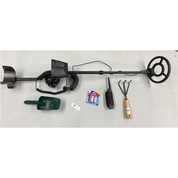A Discovery 2200 Metal Detector with Headphones, Pin Locator and Accessories. Only used a Handlful o