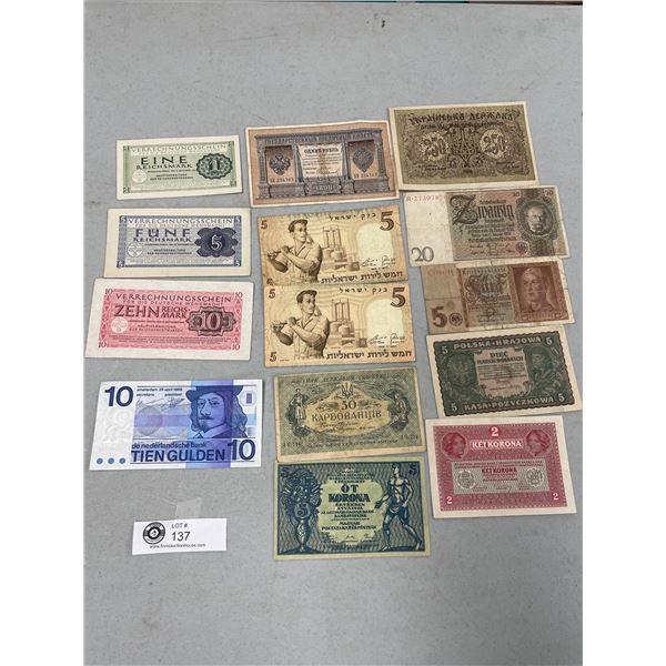Lot of Old European Paper Money From 1898 and Newer